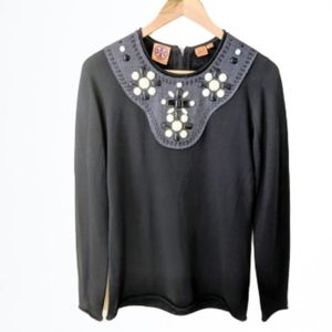 Tory Burch wool embellished top